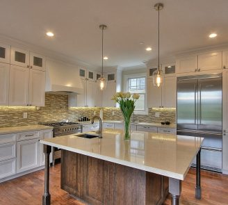 white pained kitchen