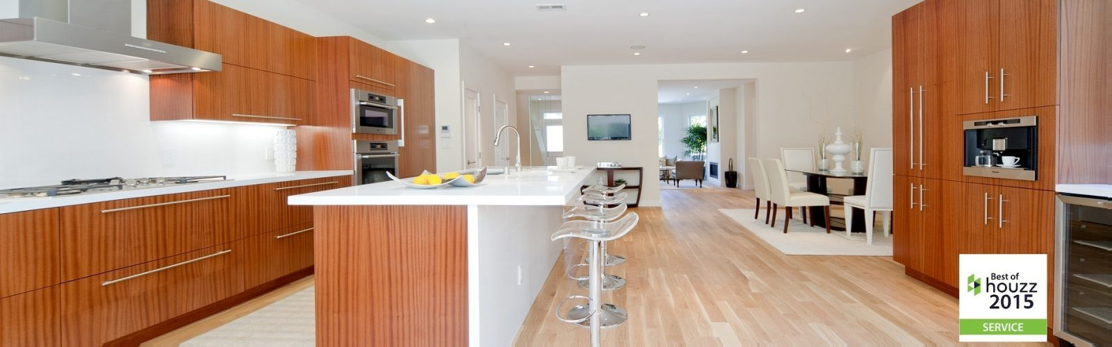 Sapele  Wood Contemporary Kitchen San Francisco